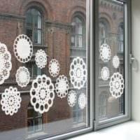 украшение окна к новому году идеи