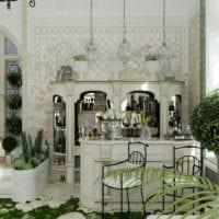 идея использования необычных идей оформления зимнего сада в доме картинка