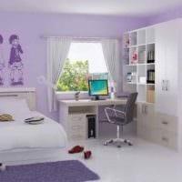 идея светлого декора детской комнаты для девочки картинка