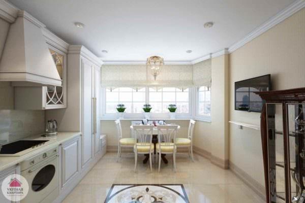 идея красивого стиля кухни 10 кв.м. серии п 44 картинка