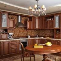 идея яркого интерьера кухни в деревенском стиле фото