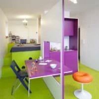 идея светлого дизайна квартиры студии 26 квадратных метров фото