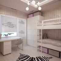 вариант необычного дизайна детской комнаты для девочки картинка