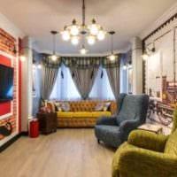 идея светлого интерьера гостиной 15 кв.м фото