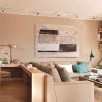вариант яркого дизайна гостиной спальни фото