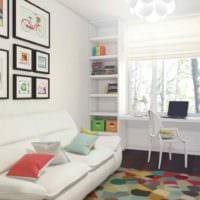 пример необычного интерьера комнаты 12 кв.м картинка