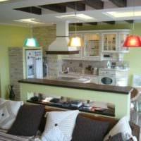 пример яркого стиля кухни 13 кв.м фото
