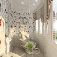 красивый дизайн маленький балкон