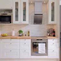 пример красивого стиля кухни 10 кв.м. серии п 44 фото