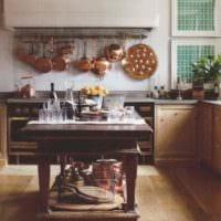 вариант необычного декора кухни в деревенском стиле картинка