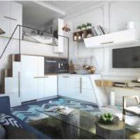 вариант необычного декора квартиры студии 26 квадратных метров картинка