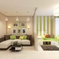 пример светлого дизайна гостиной 15 кв.м фото
