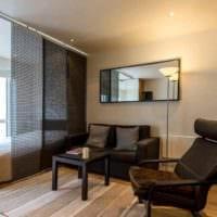 пример яркого интерьера квартиры студии 26 квадратных метров фото