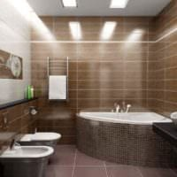 идея необычного интерьера укладки плитки в ванной комнате фото