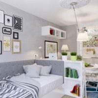 пример необычного интерьера квартиры студии 26 квадратных метров картинка