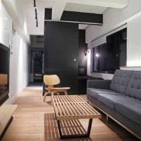 пример яркого декора квартиры студии 26 квадратных метров фото