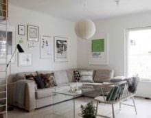 вариант светлого декора квартиры в скандинавском стиле фото