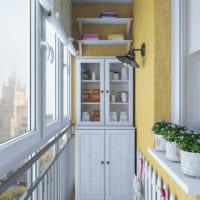 шкаф и полки на балконе