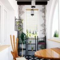 декор дизайн маленького балкона