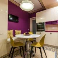 идея красивого стиля кухни 11 кв.м фото