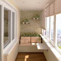 стильный дизайн маленького балкона