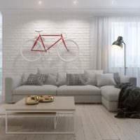 вариант яркого интерьера комнаты в скандинавском стиле картинка