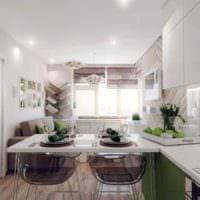 вариант необычного интерьера кухни 11 кв.м картинка