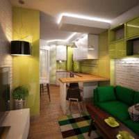 пример светлого дизайна кухни 13 кв.м картинка