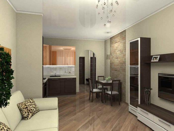 идея светлого декора квартиры студии 26 квадратных метров