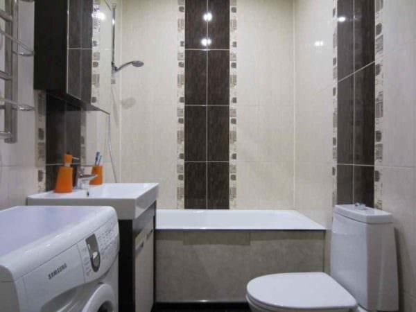 пример красивого интерьера укладки плитки в ванной комнате картинка