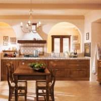 вариант красивого декора кухни в классическом стиле фото