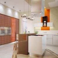 идея красивого дизайна кухни в загородном доме картинка
