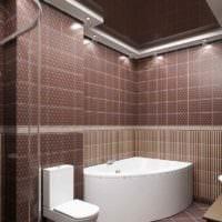 идея необычного декора укладки плитки в ванной комнате картинка