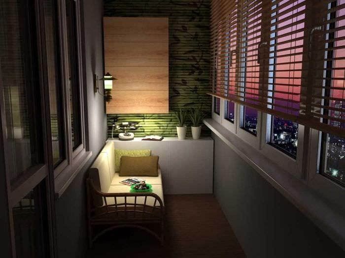 вариант оформления балкона