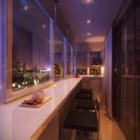 интерьер и дизайн маленького балкона