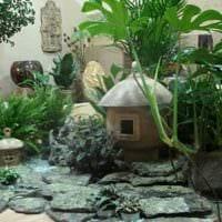 вариант применения красивых идей оформления зимнего сада в доме картинка