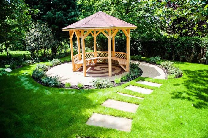 идея использования красивых садовых дорожек в ландшафтном дизайне