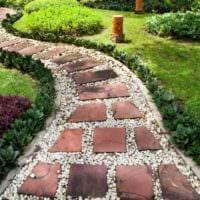 вариант использования красивых садовых дорожек фото