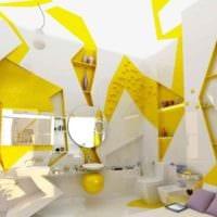 идея применения яркого желтого цвета в интерьере квартиры картинка