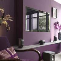 пример применения яркого сиреневого цвета в дизайне фото
