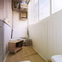 практичный дизайн маленького балкона