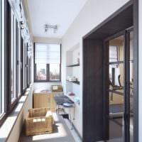 светлый дизайн маленького балкона