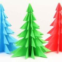 вариант создания красивой елки из бумаги своими руками картинка