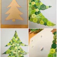 вариант создания необычной елки из картона своими руками фото