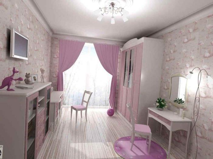 идея необычного декора детской комнаты для девочки