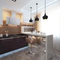 идея светлого дизайна кухни 10 кв.м. серии п 44 картинка