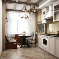 идея красивого дизайна кухни 12 кв.м фото
