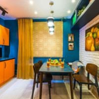 пример красивого декора кухни 13 кв.м картинка