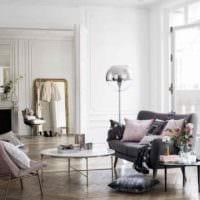 вариант яркого стиля комнаты в скандинавском стиле фото
