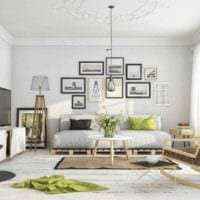 идея необычного декора квартиры в скандинавском стиле картинка